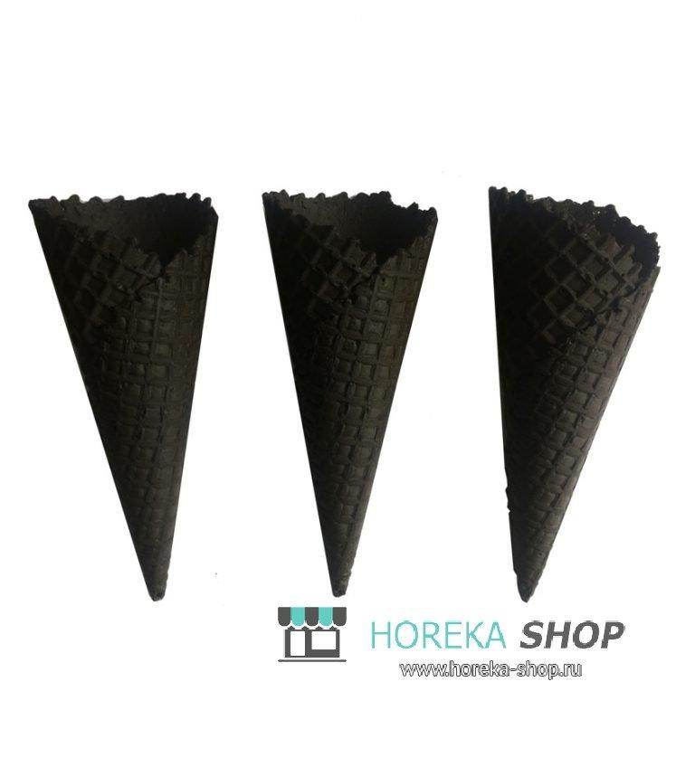 Черные рожки для мороженого